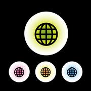 Global icon set - stock illustration