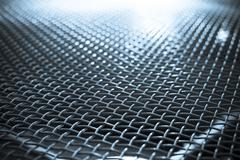 blue metal grid - stock photo