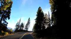 POV road trip State Route 108 Sonora mountain Pass winter Wilderness California Stock Footage