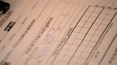 Filling a form Stock Footage