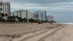 Florida beach repairing storm damage to sand fast HD 2296 Stock Footage