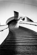 staircase in the national museum of the american indian, in washington, dc. - stock photo