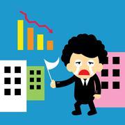 Fail vector cartoon Stock Illustration