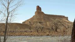 Wild River in the American Southwest Desert on Colorado Plateau Stock Footage
