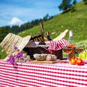 Stock Photo of picnic on the grass
