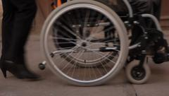 an invalid - stock footage