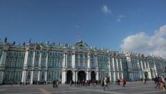 The State Hermitage Museum, St. Petersburg Stock Footage