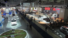 Motor show overall perspective Stock Footage