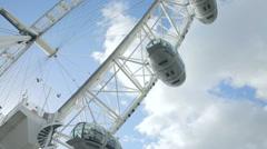 London eye ferry wheel Stock Footage