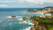 Stock Video Footage of View over Tossa de Mar town on Costa Brava, Spain