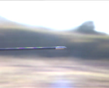 Arrow travelling through the air - stock footage