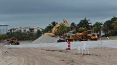 Stock Video Footage of Industrial equipment Florida beach replace sand HD 2298