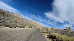 POV vehicle driving Red Rock Canyon State Park Conservation area Nevada USA - stock footage