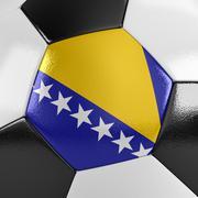 bosnia and herzegovina soccer ball - stock illustration