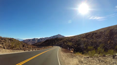 POV Death Valley driving desert landscape Wilderness Mojave Desert California Stock Footage