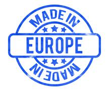 Made in europe stamp Stock Illustration