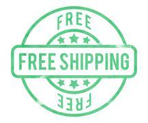 Free shipping stamp Stock Illustration
