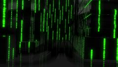 Matrix Seamlessly Looped Abstract Background - stock footage