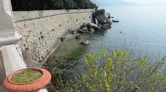 Seascape at castle Miramare, Trieste Stock Footage