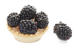 cracker with blackberries - stock photo