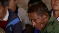Village Elder in Burma Stock Footage