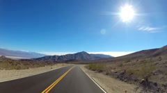 POV Death Valley driving Wilderness desert National Park climate USA - stock footage