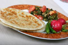 Indian foood series - vegetarian meal Stock Photos