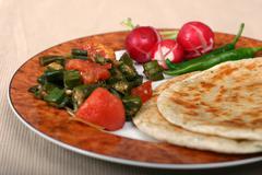 Indian food series - vegetarian meal Stock Photos