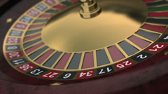 3D Casinor Roulette Wheel seamlessly looped Stock Footage