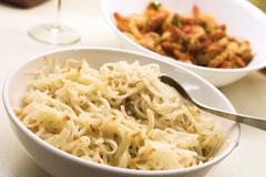 Noodles - teriyaki style Stock Photos