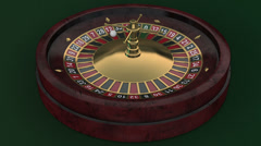3D Casino Roulette Wheel Seamlessly looped Stock Footage