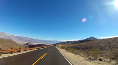 POV Death Valley driving Wilderness desert National Park climate California USA Stock Footage