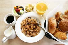 Breakfast series - healthy breakfast Stock Photos