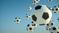 Soccer balls - stock illustration