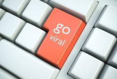 Go viral key - stock illustration
