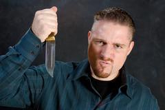 murderous rage - stock photo