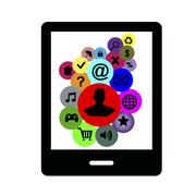 Illustration of smartphone Internet addiction Stock Illustration