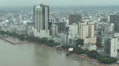 HD aerial footage of Malecon 2000 center, Guayaquil Ecuador Stock Footage