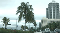 Miami Beach drive POV traffic fast time lapse HD BM 1207 Stock Footage