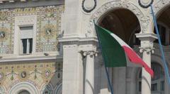 Italian flag Stock Footage