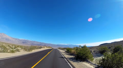 POV Death Valley driving desert landscape Wilderness Mojave Desert California - stock footage