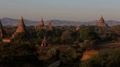 The Ancient Temples of Bagan, Myanmar Stock Footage