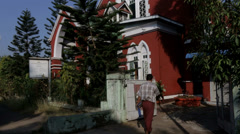 The Central Seventh-day Adventist Church in Burma Stock Footage