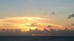 Sunset at sea in the pacific ocean, vanuatu Stock Footage