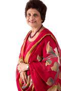 elderly east indian lady - stock photo