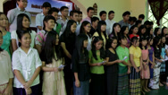 Stock Video Footage of High School Choir Sings in Christian Church