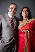 east indian couple - stock photo