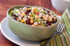 Assorted bean salad Stock Photos