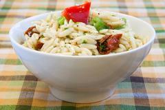 tangy rice salad - vegan - stock photo