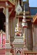 thai angel in the royal crematorium in bangkok - stock photo